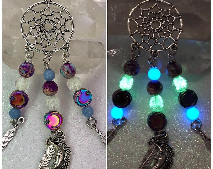 Dreamcatcher Hematite Moon Jasper Necklace