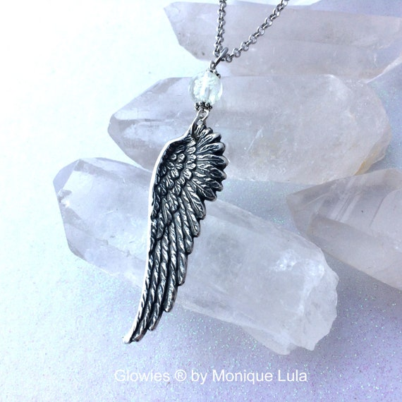 Angel Wing Glowing Orb Necklace Magic Glow Jewelry