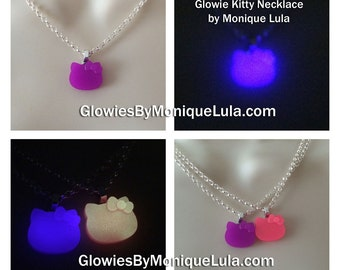 Glowing Kitty necklace