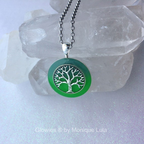 Tree of Life Glowing Two Color Glow Necklace