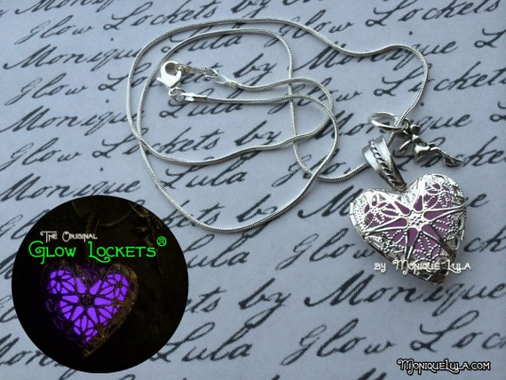 Heart of the Fairy Glow Locket ® Glowing Necklace Jewelry