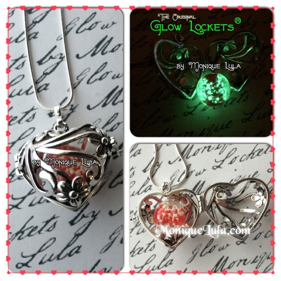 Galaxy Heart Glow Locket ® Glowing Necklace