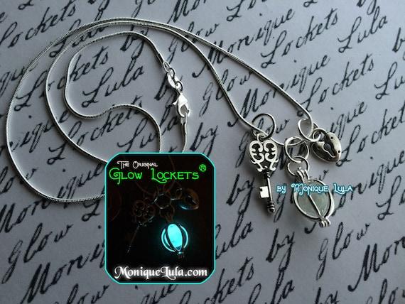 Key to my Heart Lock Glowing Key Orb Necklace