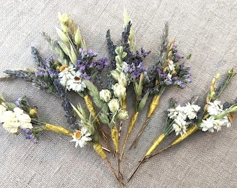 Dried Flower Hair Pins for Brides, Bridesmaids, Flower Girls, Flower Fairies and those that love to wear Flowers in their hair