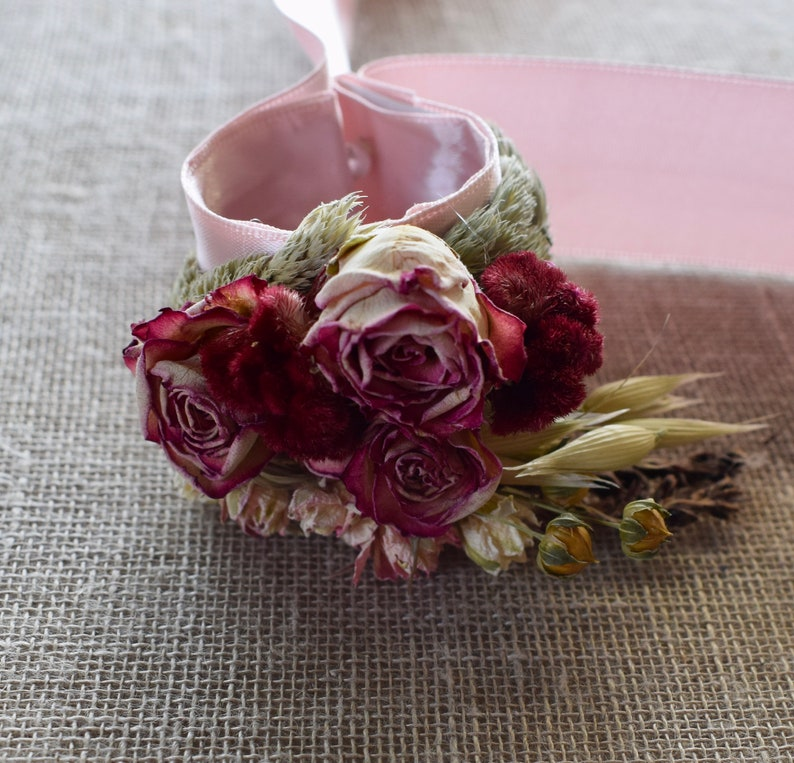 Romantic Blush and Burgundy Wedding Boutonniere Pin On or Wrist Corsage in  Burgundy Sage Blush Pink Lavender Larkspur and Grasses