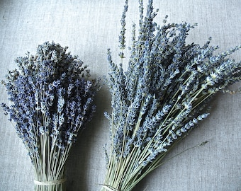 Custom Brides Bouquet  Double Bouquet of Sweet and Fragrant Organic English Lavender Sustainable Dried Flowers Zero Waste
