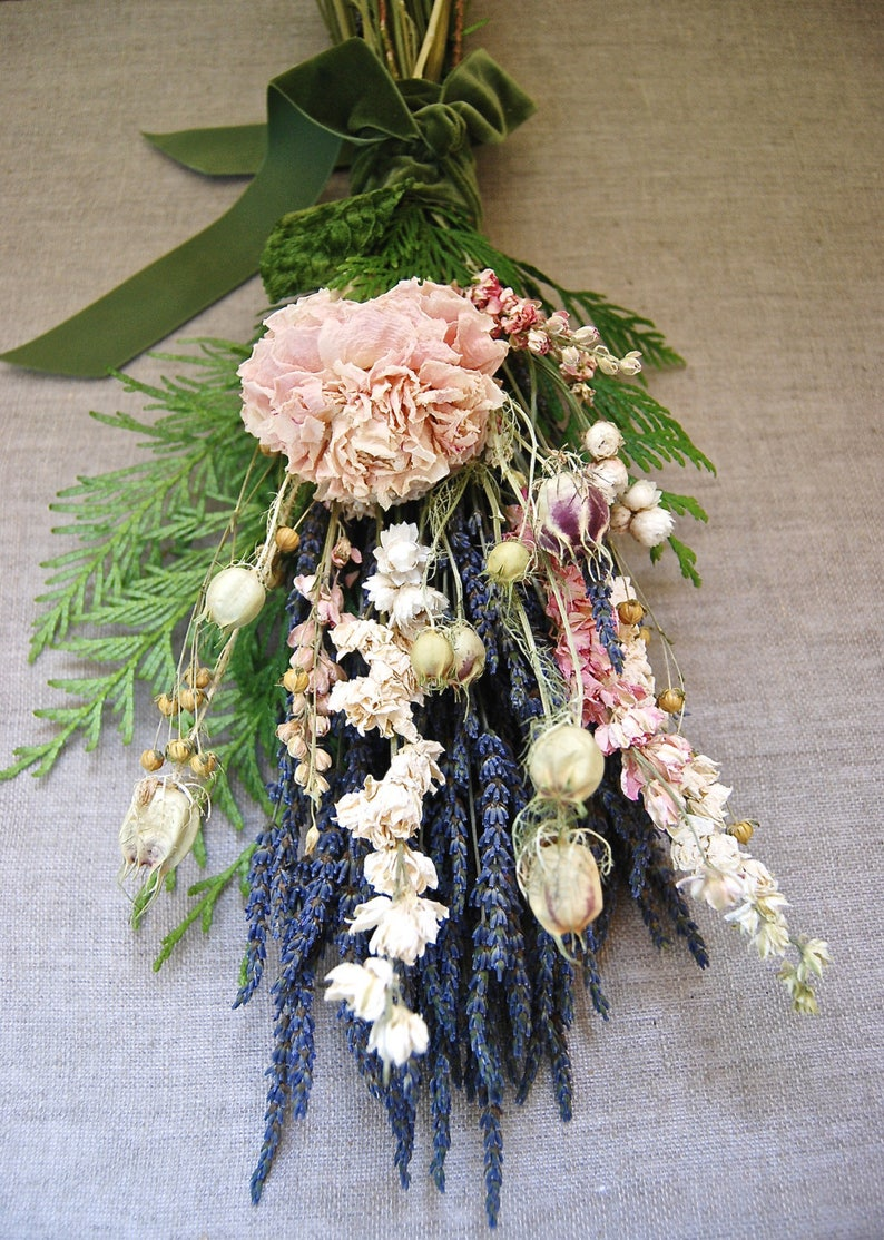 Natural Bride's Winter Wedding  Bouquet of Blush Peony image 0
