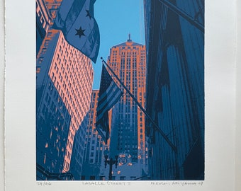 Lasalle St II--limited edition original screenprint