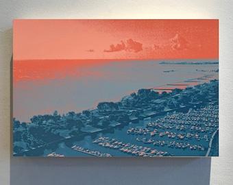 Lakeshore -- wood panel 8x8, 9x12, 12x12, 18x12