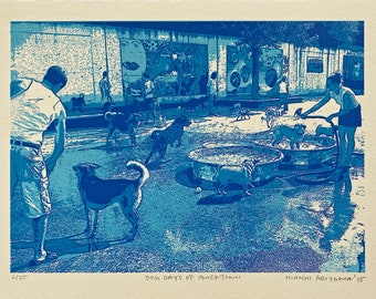 Dog days of Bucktown--limited edition original screenprint