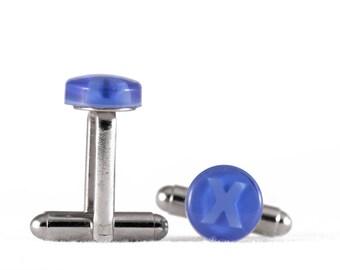 Blue Cufflinks - Xbox Buttons