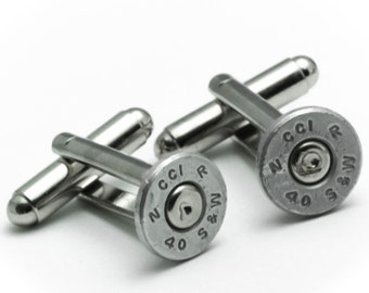 Cufflinks - Smith Wesson 40s Bullets