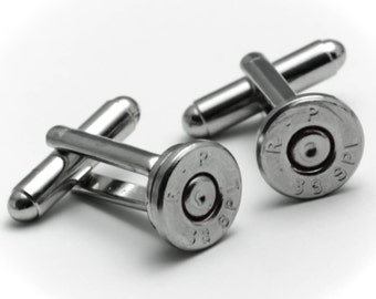 Cufflinks - Remington 38s Bullets