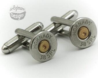 Cufflinks - Hornady 38 Special Bullets
