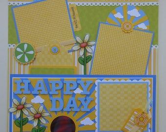 Happy Day Premade Scrapbook Page