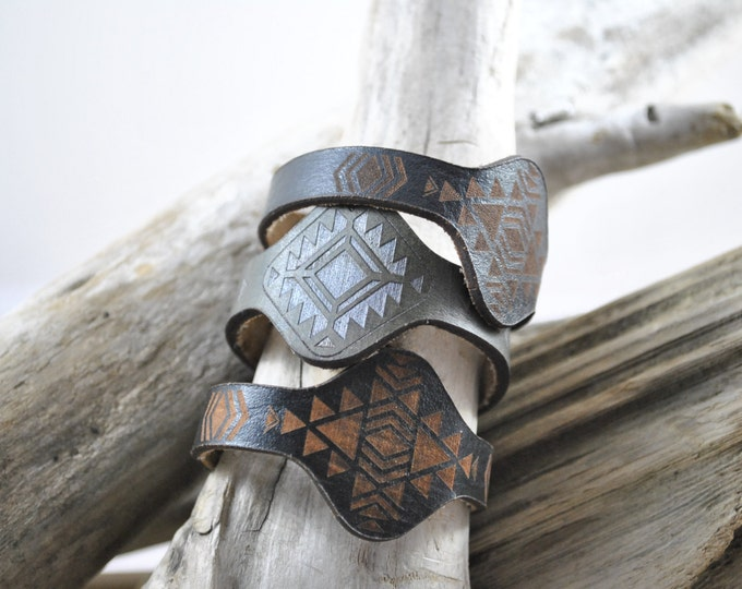 JEWEL | bracelet | Leather Bracelet | Jewelry | Cuff | Leather Wrap