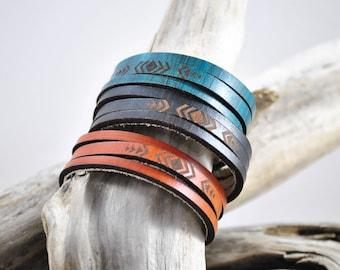 WRAP | thin | leather cuff