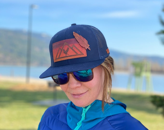 Graphic Mountain Hat with or without Layered Item