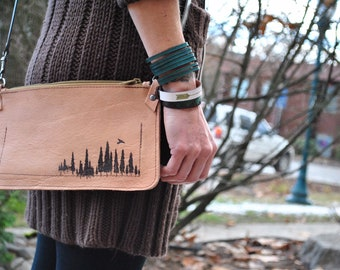 Forest Crossbody Wallet Pouch