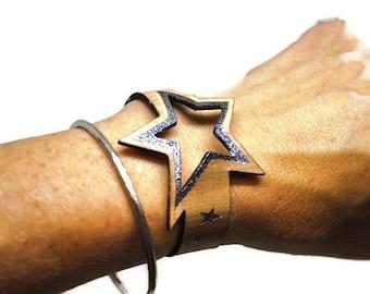 STAR super star leather bracelet, a star is born