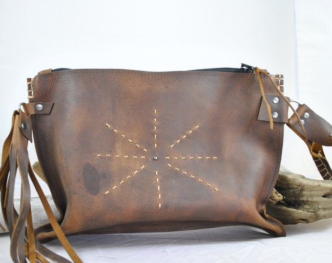 Leather Clutch, Amazing Leather bag, fits everything leather pouch
