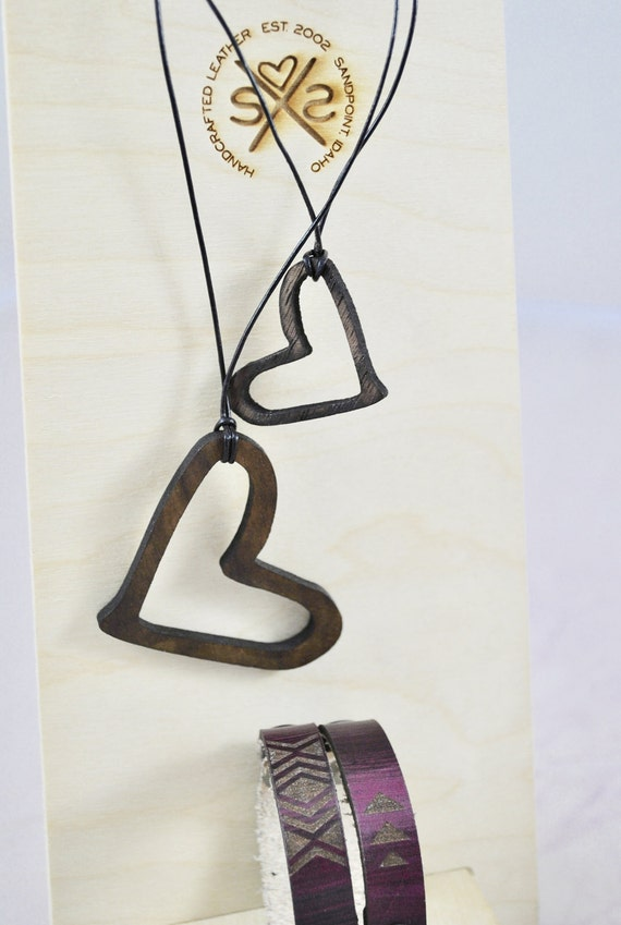 LOVE | Valentine's Day | LARGE |necklace | women | Gift for her | Wood pendant |