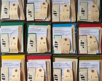 Red & White DIY Bookbinding Kit, Soft Cover Notebooks Kit, Journal Making Kit