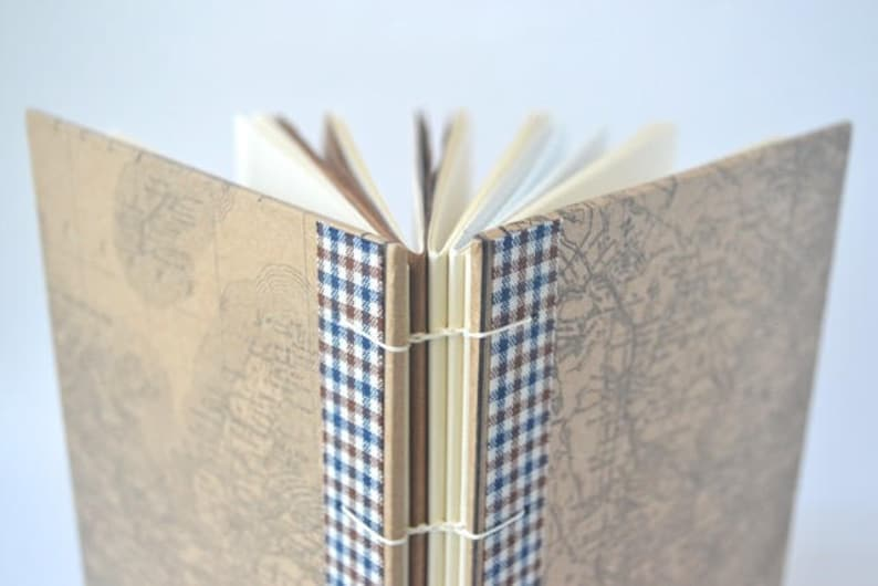Blue & Brown Plaid Canadiana Map Journal: Maritimes Brown image 0