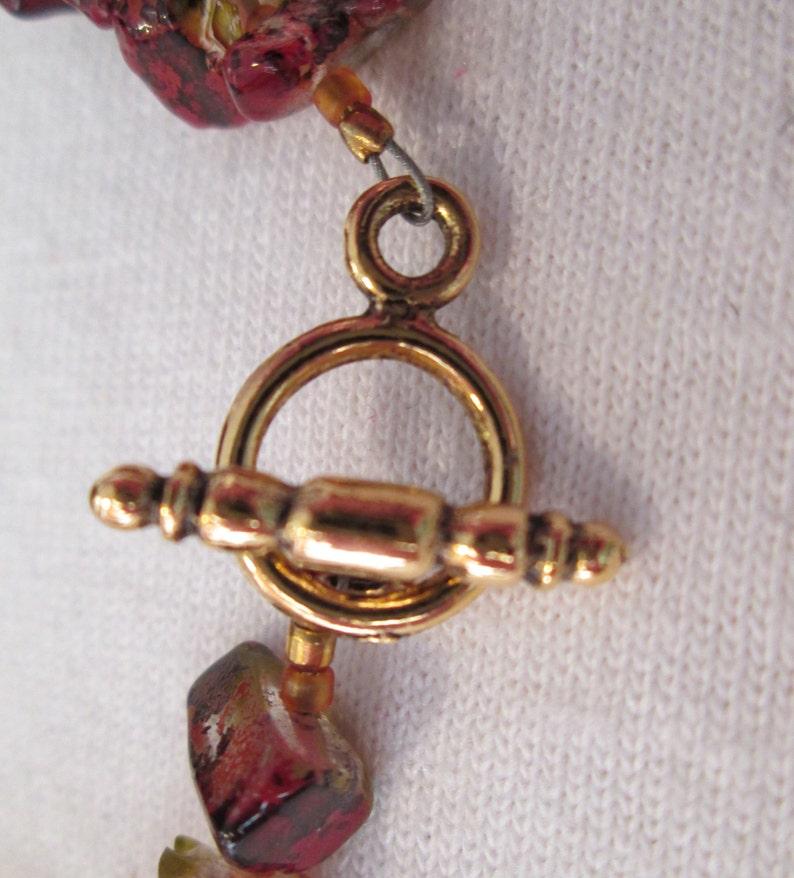 Fall Leaves Glass Beaded Bracelet