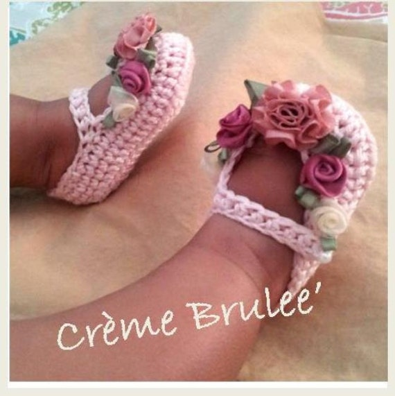Baby Bootie- Creme Brulee Luxury Delicious Mary Jane Bootie-Shabby Chic-Cottage Chic-Victorian