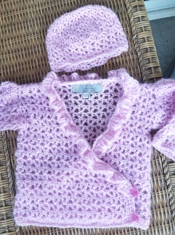 Mohair Baby Sweater Set -- Light as a feather and beautiful