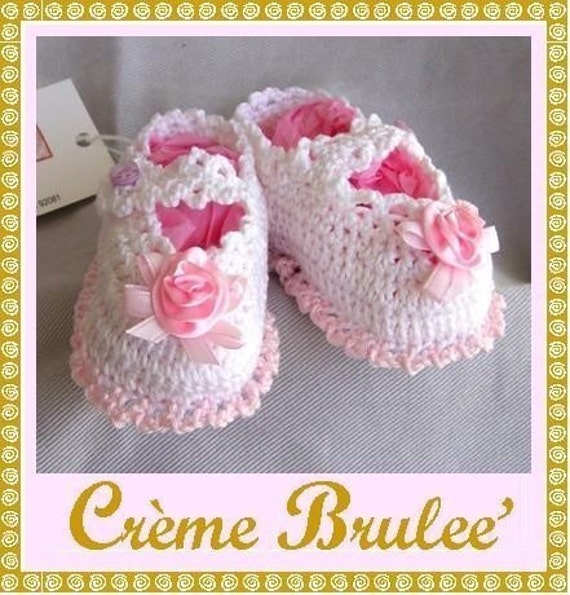 Creme Brulee -Delicious and Elegant Mary Jane for Baby 0-11 Mos (Size 1 or 2) Baby Booties