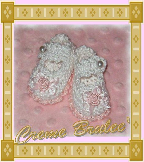 "Preemie Corner-Crème Brulee' Preemie and Micro Preemie Bootie Collection - Mary Jane for your delicate ""Early-Bird"" Preemie Baby Booties."