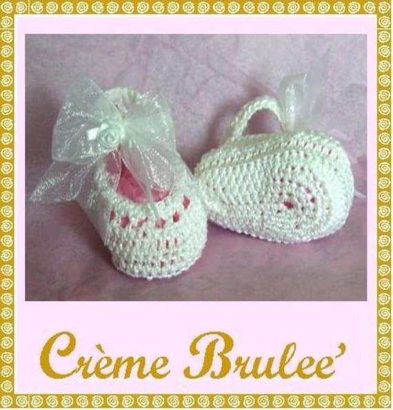Creme Brulee Preemie and Newborn Ballerina Slipper BOOTIE