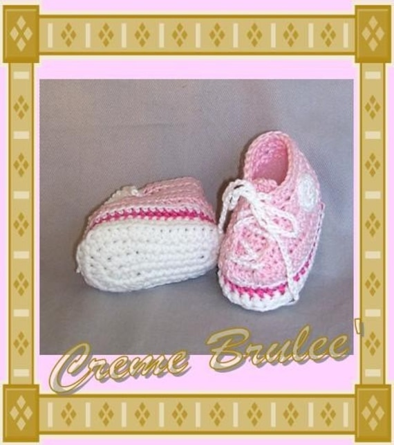 Creme Brulee for Baby -High Top Tennie Bootie - Size 1 (0-4 mos)