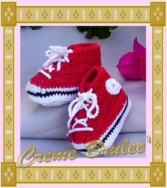 Creme Brulee' Cute as A Button- High Top Tennie Bootie for Baby- 3 Sizes - Baby Bootie