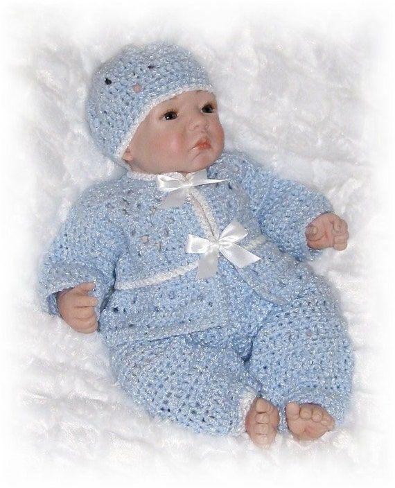 Creme Brulee Boys Layette with Pants for the Cold Weather