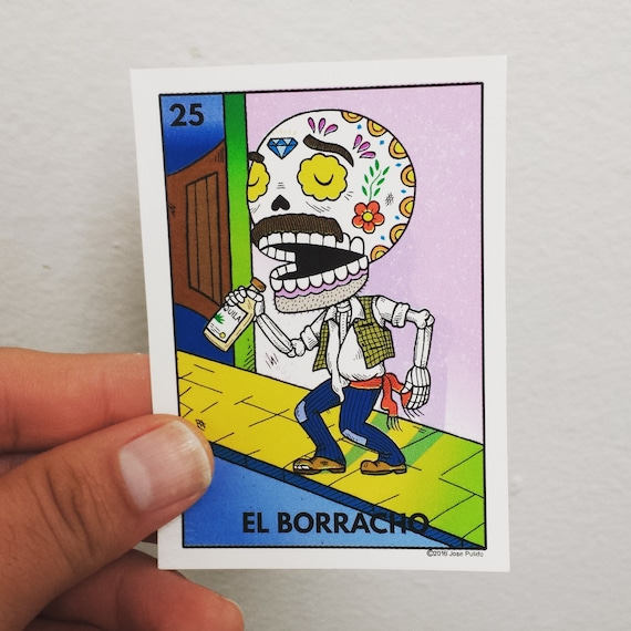 Loteria El Borracho Retro lighter