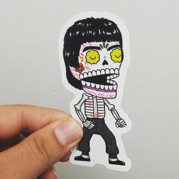 Bruce Lee Calavera Die Cut Vinyl Sticker Etsy