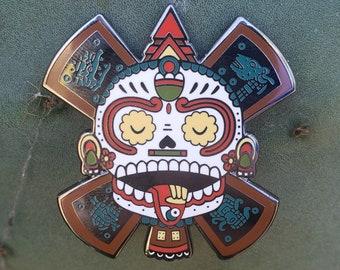 Calavera Del Sol Enamel Pin by Jose Pulido