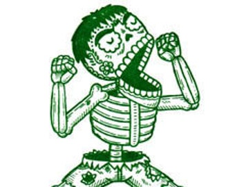 El Hulk Calavera Limited Edition Gocco Screenprint