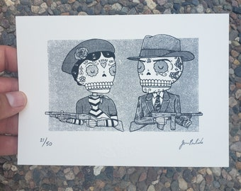Outlaws Limited Edition Gocco Screenprint