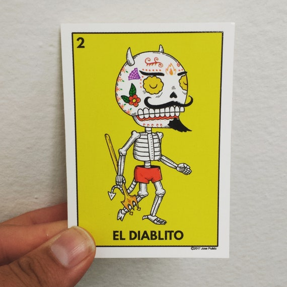 "ROSIE THE RIVETER MUERTO Art Sticker Print 2.75 X 4/"" DIA DE LOS JOSE PULIDO"