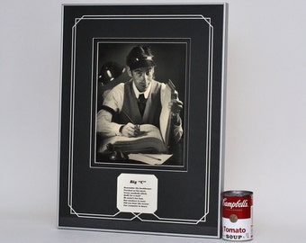 Vintage Bookkeeper Silver Gelatin Art Photograph Framed
