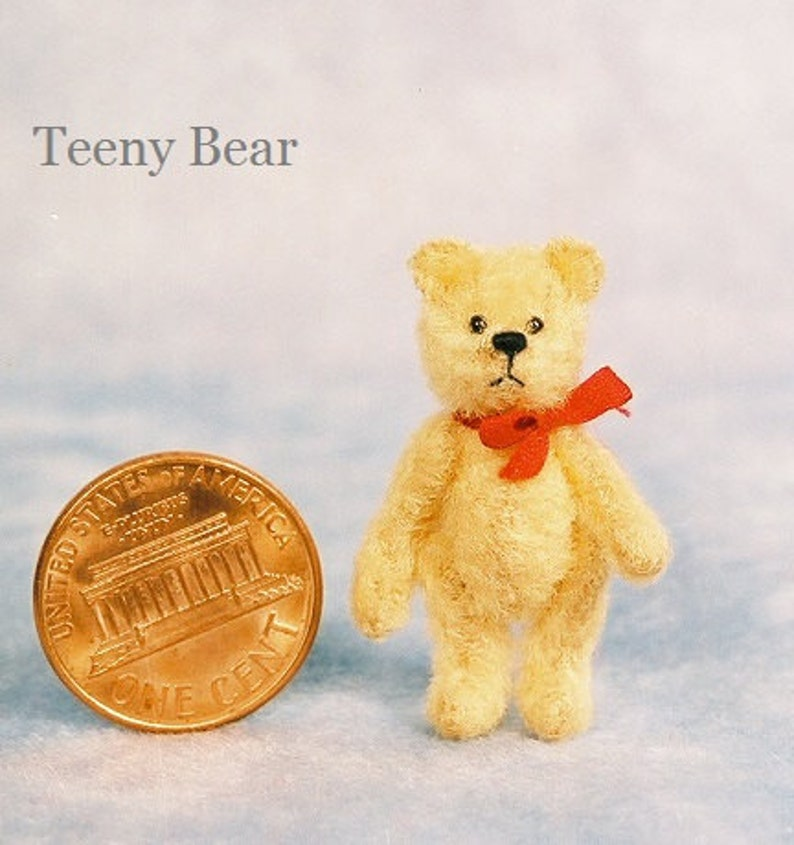 Teeny Bear Miniature Teddy Bear Kit  Pattern  by Emily image 0