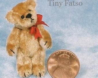 Tiny Fatso Bear - Miniature Teddy Bear Kit - Pattern - DIY - by Emily Farmer