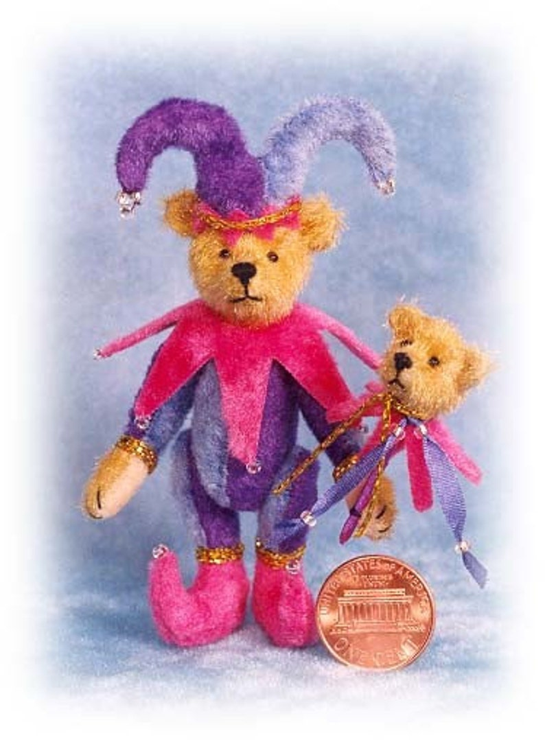 Jester Bear with Toy Miniature Teddy Bear Kit  Pattern  by image 0