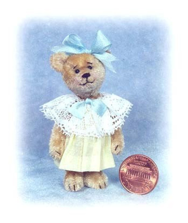 Sweet Pea  Miniature Teddy Bear Kit  Pattern  by Emily image 0