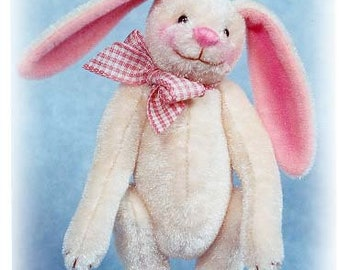 """PDF Pattern & Instructions for Small Buttercream Bunny 4 1/2"""" tall -  by Emily Farmer"""
