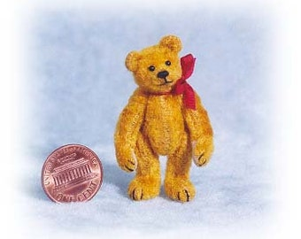 """PDF Pattern & Instructions for Miniature Teddy Bear - Small Old Bear 1 7/8"""""""" tall -  by Emily Farmer"""